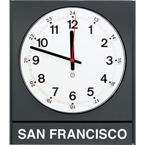 """Model 881 - 14-1/2""""w Time Zone Clock with Acrylic Cover"""