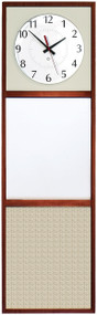 """12"""" Wide x 40"""" High Information Board with Clock - Peter Pepper Model IB1240"""