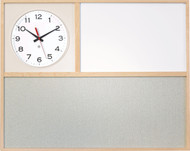 """30"""" Wide x 24"""" High Information Board with Clock - Peter Pepper Model IB3024"""