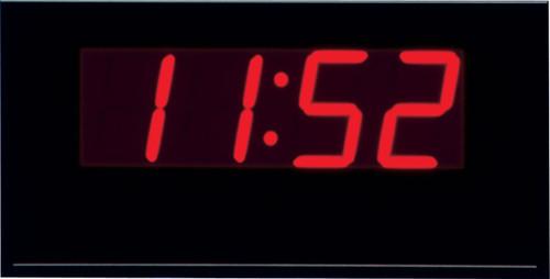 "Peter Pepper Clock - Model Z1820 - 4""h Segmented LED Standard Electronic Digital Clock"