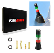 "ICBEAMER 2"" 51mm Mexican Mexico FLAG Aluminum Universal Fit Vehicle Radio Mini Antenna Fit Most Cars"