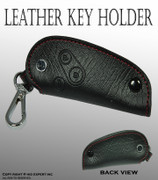 JDM one Black style Fit Honda Vehicle Genuine Leather Cover Key Holder Fob Case A250