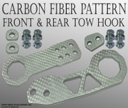 ABL 1SET Front & Rear bumper TOW HOOK SILVER Kit #1 COOL A220