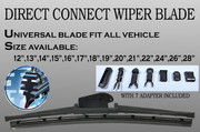 "13"" ALL SEASON 8 Adapter Hook BRACKETLESS WINDSHIELD WIPER BLADES A348"