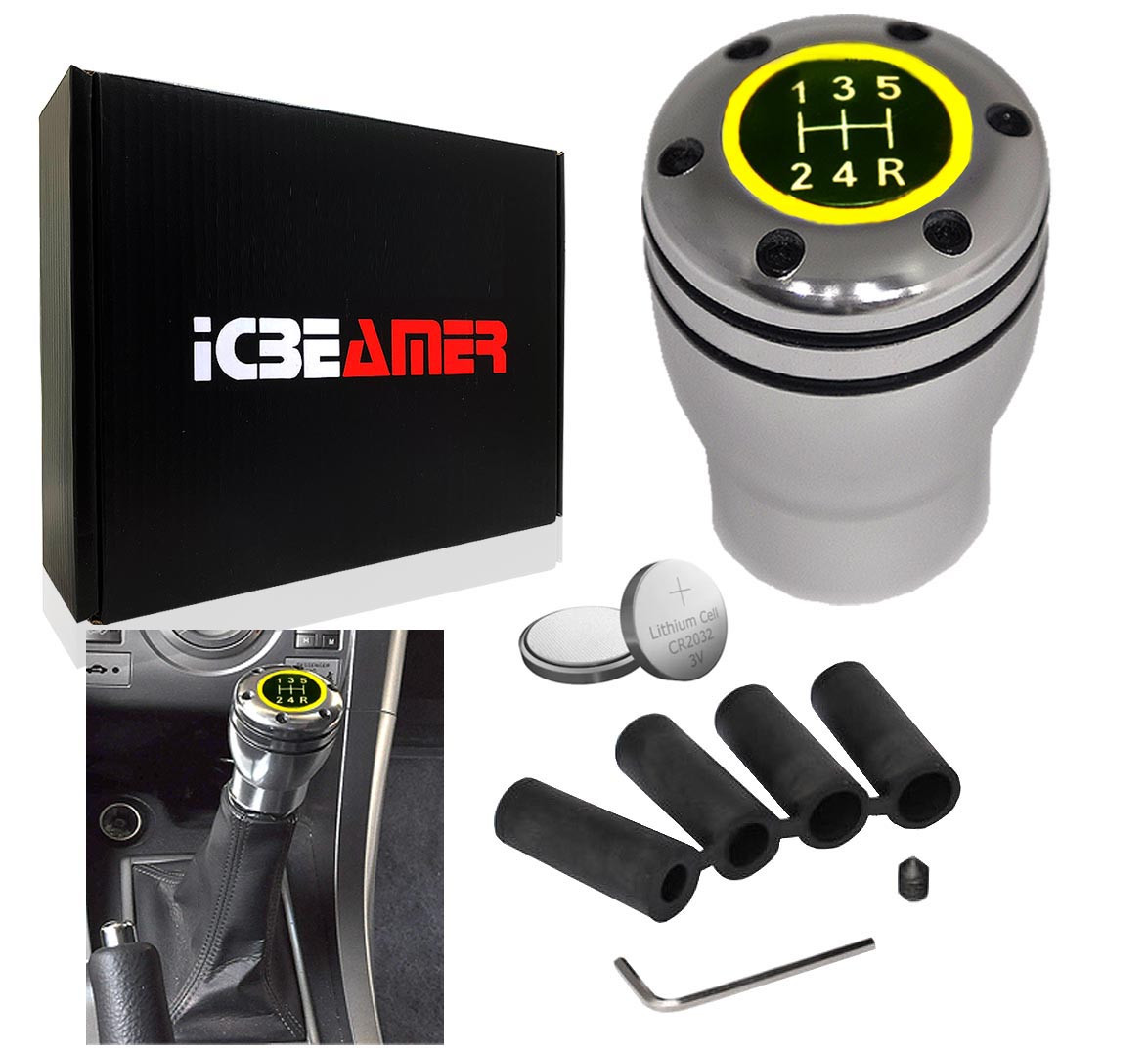 Knobs ICBEAMER Silver Aluminum Manual Transmission Gear Stick ...