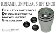 JDM One NEW Shift Knob White LED Top-Glow Series Aluminum Silver Manual Car