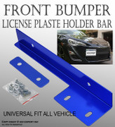 JDM Blue Aluminum Bumper Front License Plate Mount Relocate Bracket Holder Y231