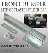 TMZ Silver Aluminum Bumper Front License Plate Mount Relocate Bracket Holder K154