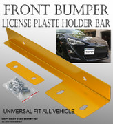 JDM Gold Aluminum Bumper Front License Plate Mount Relocate Bracket Holder P0S