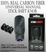 JDM New MANUAL Transmission Stick Shift Vehicle Car 100% Real Carbon Fiber Long Drift Shape Bar Shift Knob By ICBEAMER
