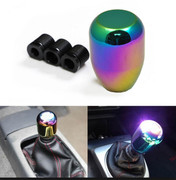 JDM Brand NEW Neo Chrome Short Drift Shape Bar Shift Knob Manual Transmission Gear Racing Style Car By ICBEAMER