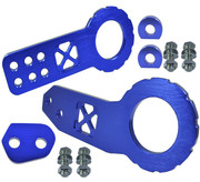 JDM TOW HOOK Racing CNC Aluminum Style  REAR BLUE with Front & Back Kit