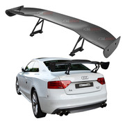 """ICBEAMER GT Wing Universal Fit 3D Carbon Fiber Rear Trunk Deck Spoiler with Accessories Kit (57"""" Length / 7"""" Bracket Height)"""