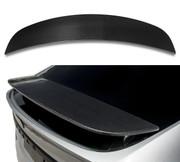 ICBEAMER Carbon Fiber Spoiler Cover Cap Gloss Finish w/ Weatherproof 3M Tape on Original Wing Fit: Tesla Model X 2016-20