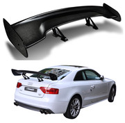 "ICBEAMER Universal Fit Real Carbon Fiber GT Wing Rear Weatherproof Adjustable Trunk Deck Spoiler with Accessories Kit (57"" Length / 7"" Bracket Height)"