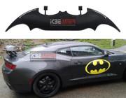 "ICBEAMER 55"" Batman STYLE Real Carbon Fiber Adjustable Rear Trunk Auto Spoiler Wing w/ Rear Brake LED Stop Light Strips"