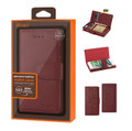 IPhone 7 For Reiko RFID Genuine Leather Wallet Fold Burgundy Case