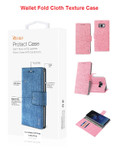 Galaxy S8 For Reiko Denim Wallet Fold Cloth Texture Case Series