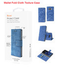 Galaxy S8 Edge For Reiko Denim Wallet Fold Cloth Texture Case Series
