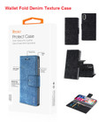 IPhone X For Reiko Denim Wallet Fold Cloth Texture Case Series