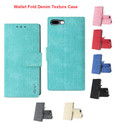 IPhone 8 Plus For Reiko Denim Wallet Fold Cloth Texture Case Series