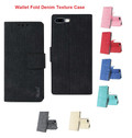 IPhone 7 Plus For Reiko Denim Wallet Fold Cloth Texture Case Series
