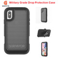 IPhone X Plus Griffin Survivor Extreme Rugged Drop Protection Case |Black