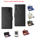 IPhone X For Reiko Genuine Leather Wallet Fold RFID Protection Open Thumb Case