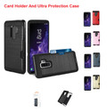 Galaxy S9+ Plus For Reiko Hybrid Armor Slim W/Card Holder Secure Case