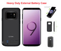 Galaxy S9+ Plus  For External Battery Power 6500mAh Rechargeable Case