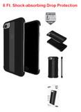 Skech Stark IPhone 8 Plus/7 Plus/6 Plus 8Ft. Drop Protection, Shockproof Cover Case| Black/ Clear