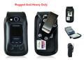 Samsung Convoy 4 for Flip Phone Rugged Heavy Duty Leather Fitted Case
