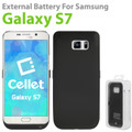 Cellet 3200mAh Bly External Battery Cover Case for Samsung Galaxy S7 W/kickstand w/Micro USB Cableack High Power Capacity Rechargeable Heavy Dut
