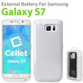 Cellet 3200mAh White High Power Capacity Rechargeable Heavy Duty External Battery Cover Case for Samsung Galaxy S7 W/kickstand w/Micro USB Cable