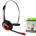 Bluetooth Cellet Wireless Headset with Red Boom Microphone For Samsung Galaxy Note 2/3/4/5 Galaxy s4/s5/s6/s7 Apple Iphone 5/5s/5c/6/6s/7 Fit Most Bluetooth Compatible Cellphones