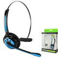 Bluetooth Cellet Wireless Blue Headset with Boom Microphone For Samsung Galaxy Note 2/3/4/5 Galaxy s4/s5/s6/s7 Apple Iphone 5/5s/5c/6/6s/7 Fit Most Bluetooth Compatible Cellphones