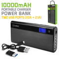 Cellet Power Bank for Samsung Galaxy Note 2/3/4/5 S5/S6/S7 10000mAh Black Portable External