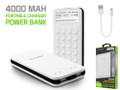 Cellet 2-Port 4000mAh Portable Charger Power Bank - White Compatible With Samsung Galaxy Note 2/3/4/5 S5/S6/S7 Etc. Cellphones