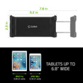 Tablet CD Slot Mount Black  -Cellet Universal  for Samsung Galaxy Tab 3 8.0 in/P8200 Device