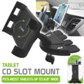Tablet CD Slot Mount Black  -Cellet Universal  for Alcatel OneTouch Pop 7 LTE /9015W Device