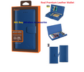 Wallet [Reiko] Premium Heavy Duty Blue/ Ultramarine Leather , Hidden Compartments, Magnetic Clasp, Cover Case for With RFID Shielded Card Slots,  Iphone 6/ 6S Plus 5.5'' Cellphone