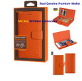 Wallet [Reiko] Premium Heavy Duty Orange /Tangerine Leather , Hidden Compartments, Magnetic Clasp, Cover Case for With RFID Shielded Card Slots,  Iphone 6/ 6S Plus 5.5'' Cellphone