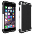 Ballistic Series Original Black / White Tough Jacket Heavy Duty Cover Case for Sprint At&t/ Verizon /T-mobile / U.S. Cellular/ Boost Mobile Apple Iphone 6 4.7in. Cellphone