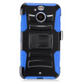 Holster Hybrid Combo Armor With Blue /Black Cover Case For HTC Bolt Sprint Cellphone