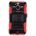 Holster Hybrid Combo Armor With Red/Black Cover Case For HTC Bolt Sprint Cellphone