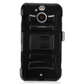 Holster Hybrid Combo Armor With Black Cover Case For HTC Bolt Sprint Cellphone