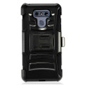 Holster Hybrid Combo Armor With Swivel Kick Stand Black Cover Case For LG G6 Cellphone