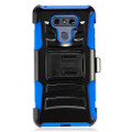 Holster Hybrid Combo Armor With Swivel Kick Stand/ Blue Cover Case For LG G6 Cellphone