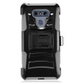 Holster Hybrid Combo Armor With Swivel Kick Stand/ Grey/Black Cover Case For LG G6 Cellphone