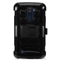 Holster Hybrid Combo Armor With Swivel Kick Stand Black Cover Case For LG K10 Cellphone